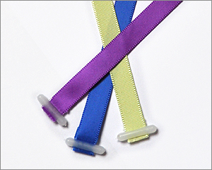 10mm satin ribbon with plastic ends